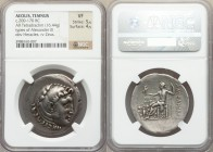 AEOLIS. Temnus. Ca. 200-170 BC. AR tetradrachm (34mm, 16.44 gm, 12h). NGC VF 5/5 - 4/5. Late posthumous issue in the name and types of Alexander III t...