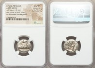LYCIA. Phaselis. Ca. 530-500 BC. AR stater (19mm, 10.96 gm) NGC Choice VF 5/5 - 4/5. Prow of galley left, in the form of a boar's head and foreleg, th...
