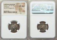 PARTHIAN KINGDOM. Pacorus I (ca. AD 78-120). AR drachm (20mm, 12h). NGC Choice AU. Ecbatana. Bust of Pacorus left with long pointed beard, wearing dou...
