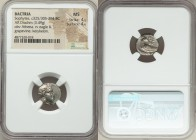 BACTRIA. Early Hellenistic era. Sophytes (ca. 325/305-294 BC). AR drachm (14mm, 3.49 gm, 6h). NGC MS 4/5 - 4/5. Head of Athena right, wearing Attic he...