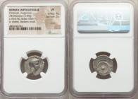 Octavian, as Triumvir and Imperator (43-27 BC). AR denarius (18mm, 3.84 gm, 12h). NGC VF 4/5 - 3/5, scuffs, bankers mark. Spanish or northern Italian ...