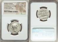 Domitian, as Caesar (AD 81-96). AR cistophorus (26mm, 10.57 gm, 5h). NGC Choice Fine 5/5 - 4/5. Rome, for use in Asia, AD 80-81. CAES DIVI F-DOMITIANV...