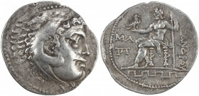 MACEDONIA: Alexander III, the Great, posthumous, ca. 2nd century BC, AR tetradrachm (16.7g), S-6713 ff, head of Herakles right, wearing lion skin // Z...