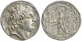 SELEUKID KINGDOM: Antiochos VII Euergetes, 138-129 BC, AR tetradrachm (16.70g), ND, S-7092, king's head right, diademed, fillet border // Athena stand...