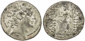 SELEUKID KINGDOM: Phillip Philadelphos, 93-83 BC, AR tetradrachm (15.50g), ND, S-7196, king's head right, diademed, fillet border // Zeus seated, hold...