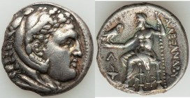 MACEDONIAN KINGDOM. Alexander III the Great (336-323 BC). AR tetradrachm (26mm, 15.99 gm, 8h). NGC (photo-certificate) Choice VF 5/5 - 2/5, edge chips...
