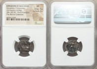MACEDONIAN KINGDOM. Demetrius I Poliorcetes (306-283 BC). AR drachm (18mm, 4.06 gm, 1h). NGC XF 5/5 - 2/5. Tarsus, ca. 298-295 BC. Nike standing left ...