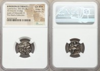 THRACIAN KINGDOM. Lysimachus (305-281 BC). AR drachm (18mm, 4.28 gm, 11h). NGC Choice XF S 4/5 - 5/5. In the types of Alexander III the Great of Maced...
