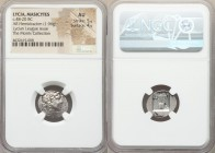 LYCIAN LEAGUE. Masicytes. Ca. 48-20 BC. AR hemidrachm (16mm, 1.96 gm, 12h). NGC AU 5/5 - 4/5. Λ-Υ, laureate head of Apollo right / M-A, cithara with f...