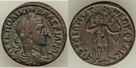 IONIA. Ephesus. Valerian I (AD 253-260). AE (27mm, 9.37 gm, 7h). VF. AVT K ΠO ΛIKIN BAΛEPIANOC, laureate, draped and cuirassed bust right, seen from b...