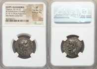 EGYPT. Alexandria. Tiberius (AD 14-37), with Divus Augustus. AR tetradrachm (25mm, 12.60 gm, 12h). NGC VF 3/5 - 4/5. Alexandria, dated Regnal Year 14 ...