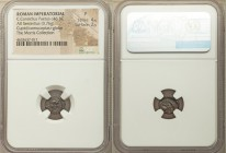 C. Considius Paetus (ca. 46 BC). AR sestertius (11mm, 0.76 gm, 3h). NGC Fine 4/5 - 2/5. Rome. C CONSIDIVS, winged bust of Cupid right / Filleted doubl...