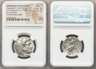 MACEDONIAN KINGDOM. Alexander III the Great (336-323 BC). AR tetradrachm (25mm, 17.11 gm, 11h). NGC AU 5/5 - 3/5. Late lifetime to early posthumous is...
