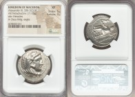 MACEDONIAN KINGDOM. Alexander III the Great (336-323 BC). AR tetradrachm (28mm, 17.05 gm, 9h). NGC XF 5/5 - 3/5. Lifetime issue of Tarsus, ca. 333-327...