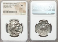 MACEDONIAN KINGDOM. Alexander III the Great (336-323 BC). AR tetradrachm (31mm, 1h). NGC XF, Fine Style. Posthumous issue of Pella?, ca. 280-275 BC. H...