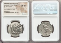 MACEDONIAN KINGDOM. Alexander III the Great (336-323 BC). AR tetradrachm (28mm, 10h). NGC Choice VF. Lifetime or early posthumous issue of Phoenicia, ...