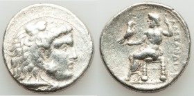 MACEDONIAN KINGDOM. Alexander III the Great (336-323 BC). AR tetradrachm (28mm, 16.95 gm, 11h). Fine. Uncertain mint in Phoenicia or Syria, ca. 323-31...
