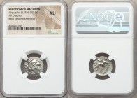 MACEDONIAN KINGDOM. Alexander III the Great (336-323 BC). AR drachm (17mm, 1h). NGC AU. Posthumous issue of Lampsacus, ca. 310-301 BC. Head of Heracle...