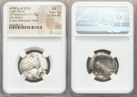 ATTICA. Athens. Ca. 440-404 BC. AR tetradrachm (24mm, 17.18 gm, 9h). NGC AU 3/5 - 4/5. Mid-mass coinage issue. Head of Athena right, wearing crested A...
