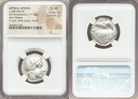 ATTICA. Athens. Ca. 440-404 BC. AR tetradrachm (24mm, 17.18 gm, 8h). NGC Choice VF 4/5 - 3/5. Mid-mass coinage issue. Head of Athena right, wearing cr...