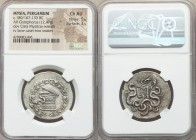 MYSIA. Pergamum. Ca. 180/167-133 BC. AR cistophorus (29mm, 12.47 gm, 12h). NGC Choice AU 5/5 - 3/5. Cista mystica with serpent; all within ivy wreath ...