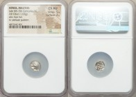 IONIA. Miletus. Ca. late 6th-5th centuries BC. AR obol (9mm, 1.03 gm). NGC Choice AU 5/5 - 2/5. Milesian standard. Forepart of roaring lion right, hea...