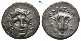 Kings of Macedon. Uncertain mint. Perseus 179-168 BC. Pseudo-Rhodian Issues.. Drachm AR