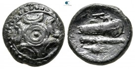"Kings of Macedon. Uncertain mint or Miletos. Alexander III ""the Great"" 336-323 BC. Half Unit Æ"