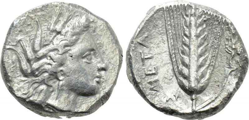 LUCANIA. Metapontion. Nomos (Circa 330-290 BC). 