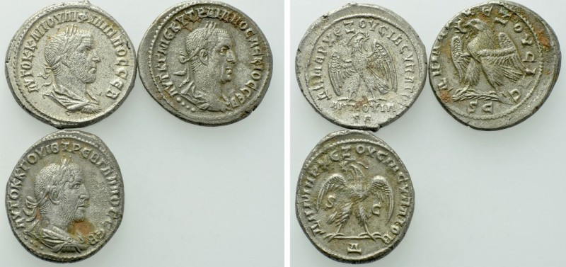 3 Roman Provincial Tetradrachms. 