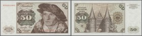 Bundesrepublik: 50 DM 1977, Ro.277a in kassenfrischer Erhaltung // G.F.R.: 50 Deutsche Mark 1977, P.33b in perfect UNC condition
