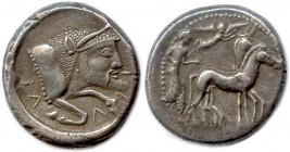 SICILY - GELA Before 466 B.C Tetradrachm