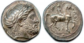 MACEDONIAN KINGDON - PHILIP II 359-336 B.C Tetradrachm