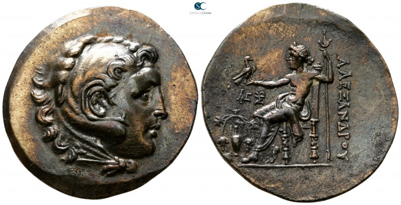Aeolis. Temnos circa 188-170 BC. In the name and types of Alexander III of Maced...