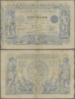 Algeria: Banque de l'Algérie 100 Francs 1911, P.74, , highly are and very early type of the banknotes from Algeria with some small border tears, rusty...