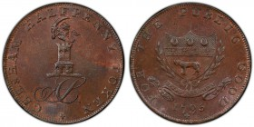 Buckinghamshire, Chesham copper 1/2 Penny Token 1795 MS64 Brown PCGS, D&H-20. Edge: PAYABLE AT ADAM SIMPSONS X.X.X. CHESHAM HALFPENNY TOKEN. Cypher AS...