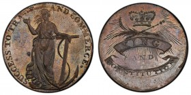Essex, Chelmsford copper 1/2 Penny Token 1794 MS64 Brown PCGS, D&H-6, Conder p.214, 36, Atkins p.26, 5. Edge: PAYABLE IN LONDON and engrailed. SUCCESS...