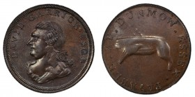 Essex, Dunmow copper 1/2 Penny Token ND (18th Century) MS63 Brown PCGS, D&H-22. Bust of David Garrick left / A flitch of bacon. Includes original coll...