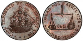 Gloucestershire, Badminton copper 1/2 Penny Token 1796 MS64 Brown PCGS, D&H-37. Pair of scales / Ship.  HID09801242017
