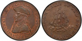 Hampshire, Emsworth copper 1/2 Penny Token 1795 MS62 Brown PCGS, D&H-30. EARL HOWE & THE FIRST OF JUNE 1794. Uniformed bust of Earl Richard Howe left ...
