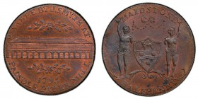 Kent, Maidstone copper 1/2 Penny Token 1795 MS64+ Brown PCGS, D&H-37. Edge: Milled. Shield of arms and supporters of the borough of Maidstone, MAIDSTO...