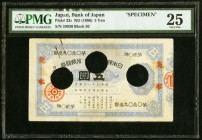Japan Bank of Japan 5 Yen ND (1886) Pick 23s JNDA 11-24 Specimen PMG Very Fine 25. The 1 Yen Daikoku note is frequently offered for sale, but the situ...