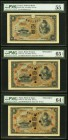 Japan Bank of Japan 100 Yen ND (1930) Pick 42a JNDA 11-44 PMG About Uncirculated 55; 100 Yen ND (1930) Pick 42s JNDA 11-44 Two Specimens PMG Choice Un...