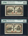 Japan Bank of Japan 5 Yen ND (1944) Pick 55s2 JNDA 11-56 11 Specimens PMG Uncirculated 62 EPQ; Choice Uncirculated 63 EPQ (6); 64; 64 EPQ (3). A group...
