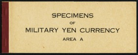 "Japan Allied Military Currency Supplemental A Specimen Book Choice Crisp Uncirculated. A series of ""Area A"" military currency of the 10 sen, 50 sen, 1..."