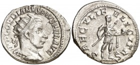 (242-244 d.C.). Gordiano III. Antoniniano. (Spink 8659) (S. 319a) (RIC. 216). 4,46 g. EBC.