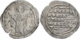 Constantine X Ducas, 1059-1067. 2/3 Miliaresion (Silver, 22 mm, 1.56 g, 6 h), Constantinopolis. +ΘKЄ ROHΘ Virgin Mary orans, standing facing on footst...