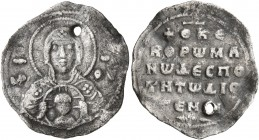 Romanus IV Diogenes, 1068-1071. 2/3 Miliaresion (Silver, 20 mm, 1.26 g, 6 h), Constantinopolis. Bust of the Virgin facing, nimbate and wearing pallium...