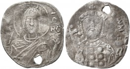 Romanus IV Diogenes, 1068-1071. 1/3 Miliaresion (Silver, 15 mm, 0.53 g, 6 h), Constantinopolis. Facing bust of the Nimbate Virgin Mary orans, wearing ...