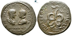 Moesia Inferior. Tomis. Gordian III, with Tranquillina AD 238-244. Tetrassarion Æ